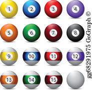 Billiard Balls Clip Art.