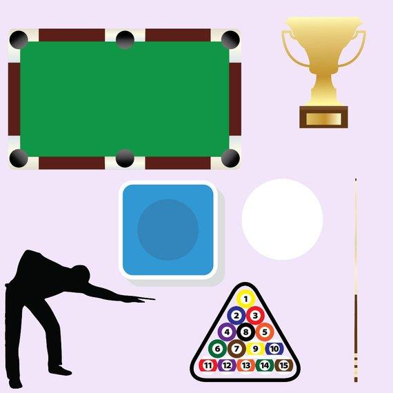 Billiard clipart, pool game clip art, snooker games, billiards balls.