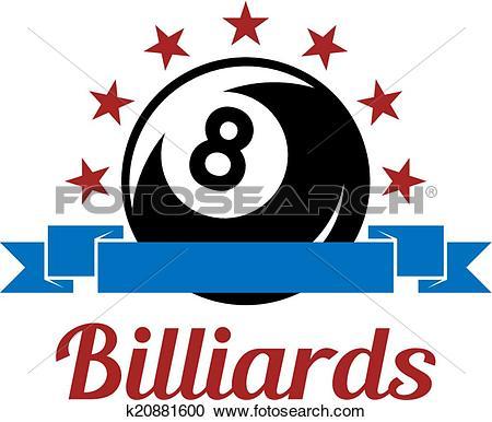Clipart of Billiard sport symbol k20881600.