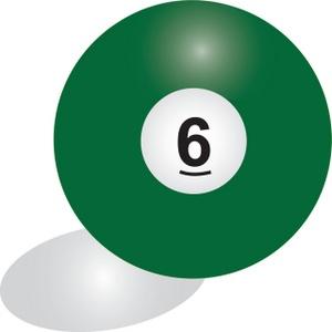 Billiards Clipart Image.