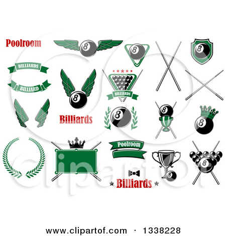 Clipart O Pool Billiards Sports Designs with Text 2.