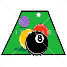 Sports Clipart Image of A Billiards Player Lining Up His Shot http.