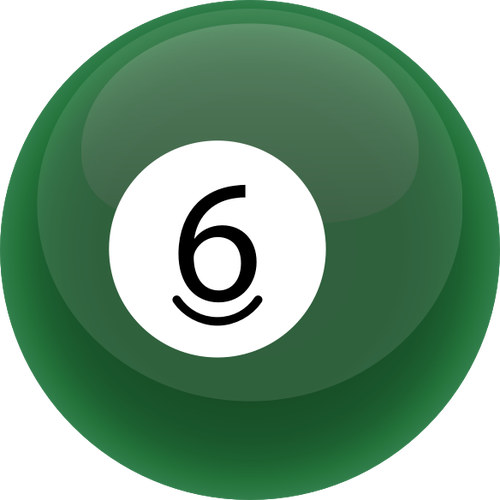 Grüne Billard Kugel.