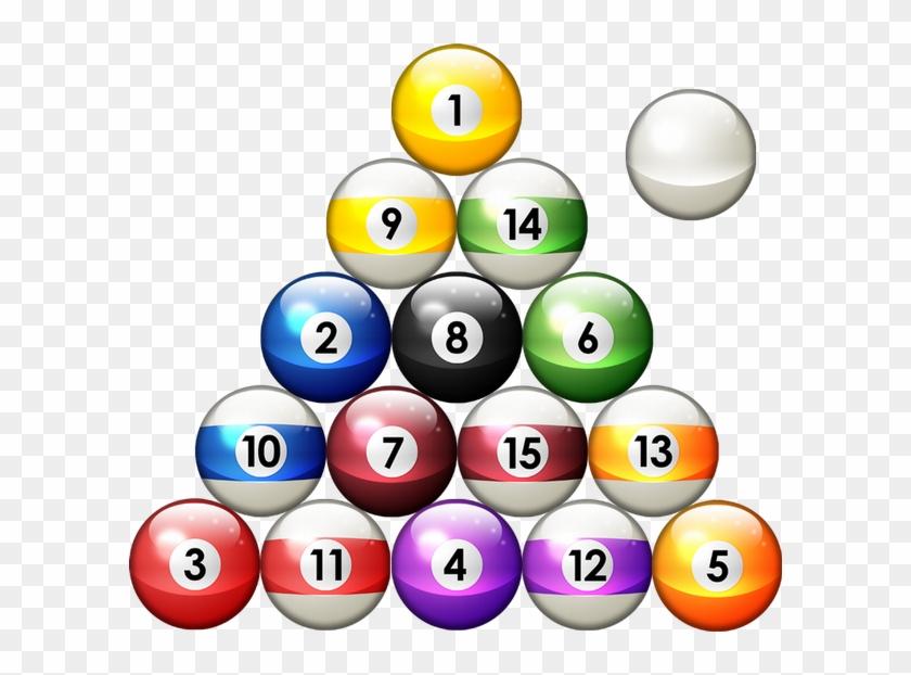 Pool Balls In Rack Png.