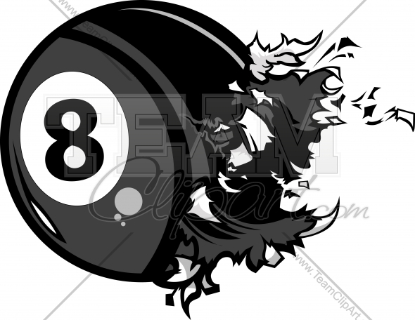 Billiards 8 Ball Clipart.