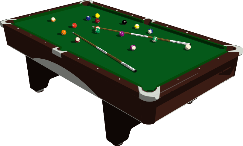 Free Clipart: Pool Table.