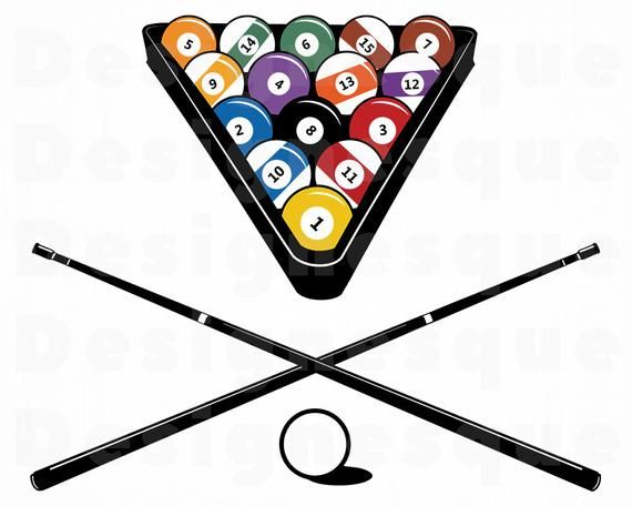 Billiards Svg, Snooker Svg, Pool, Billiards Clipart.