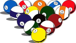 Cartoon Billiards Clipart.