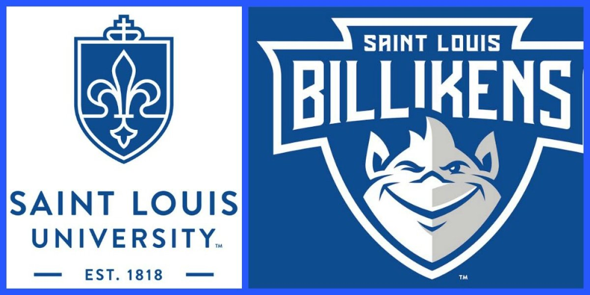 New logos for Saint Louis University and Billiken Athletics.