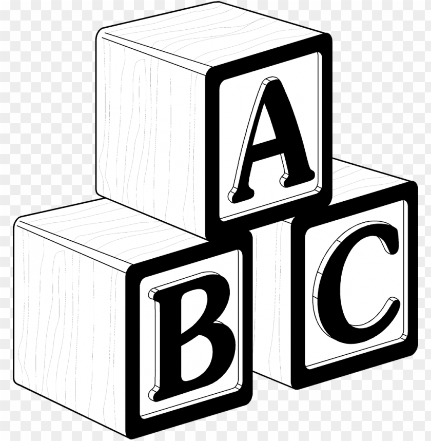 clip art free library blocks clipart black and white.
