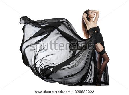 Billowing dress clipart.