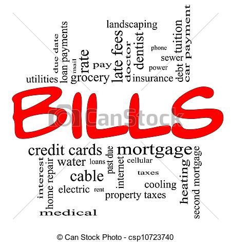 Paying Bills Clipart.