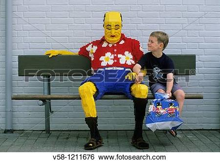Stock Images of Denmark, Jutland, Billund, Legoland amusement park.