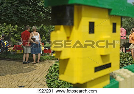 Stock Photography of A Couple At Legoland, Billund, Denmark.