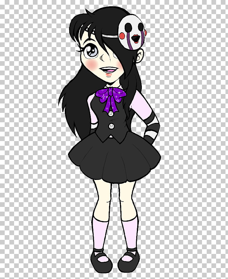 Mammal Black hair , billy the puppet PNG clipart.