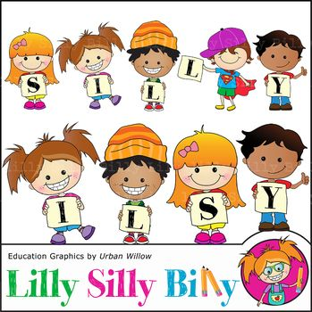 Clipart Silly Kids {Lilly Silly Billy}.