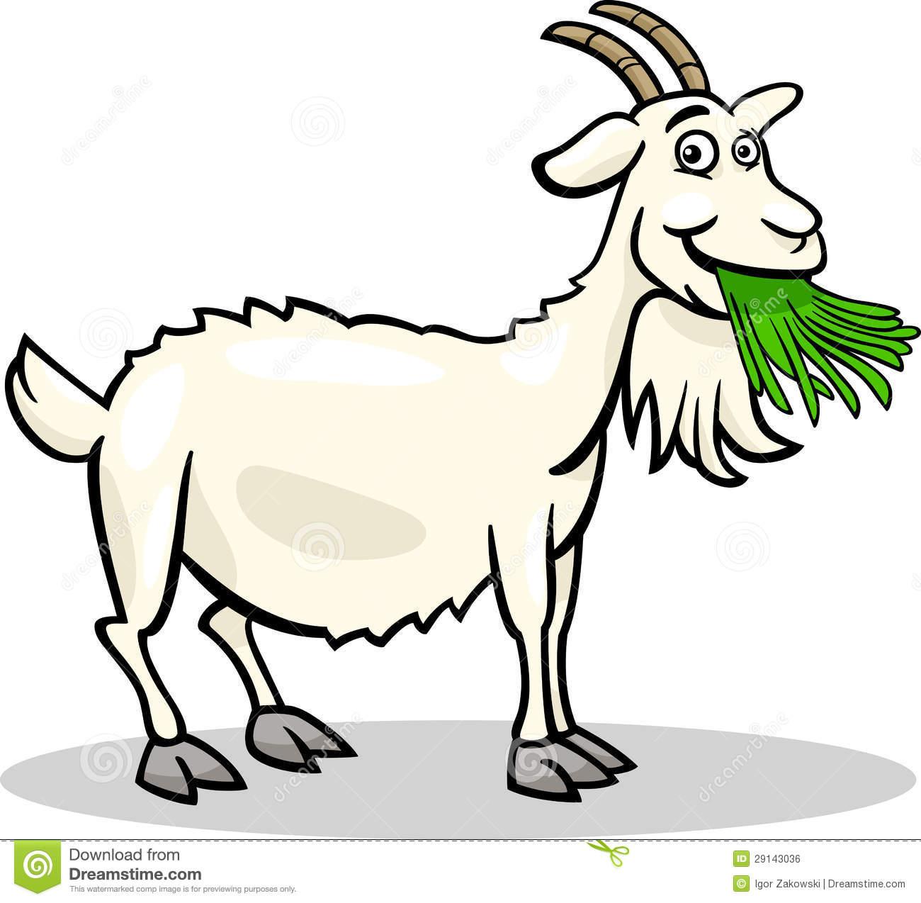 Goat Grazing Clipart.