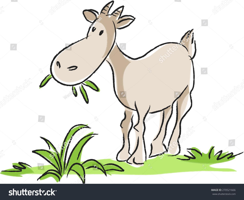 Goat Eating Clipart.