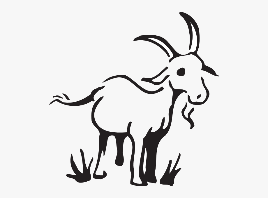 Goat In The Grass Clip Art.