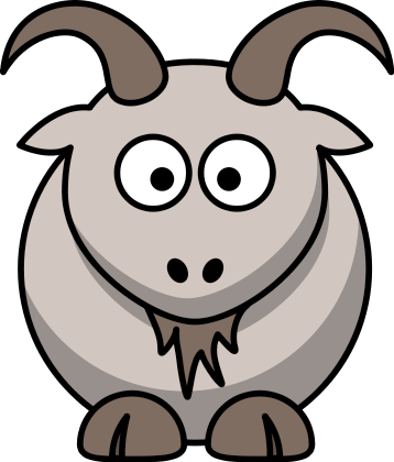 Free Cartoon Billy Goat Clipart, 1 page of Public Domain Clip Art.