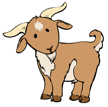 Cartoon Baby Goat.