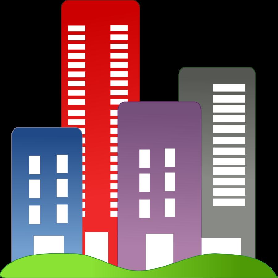 Housing estate clipart.