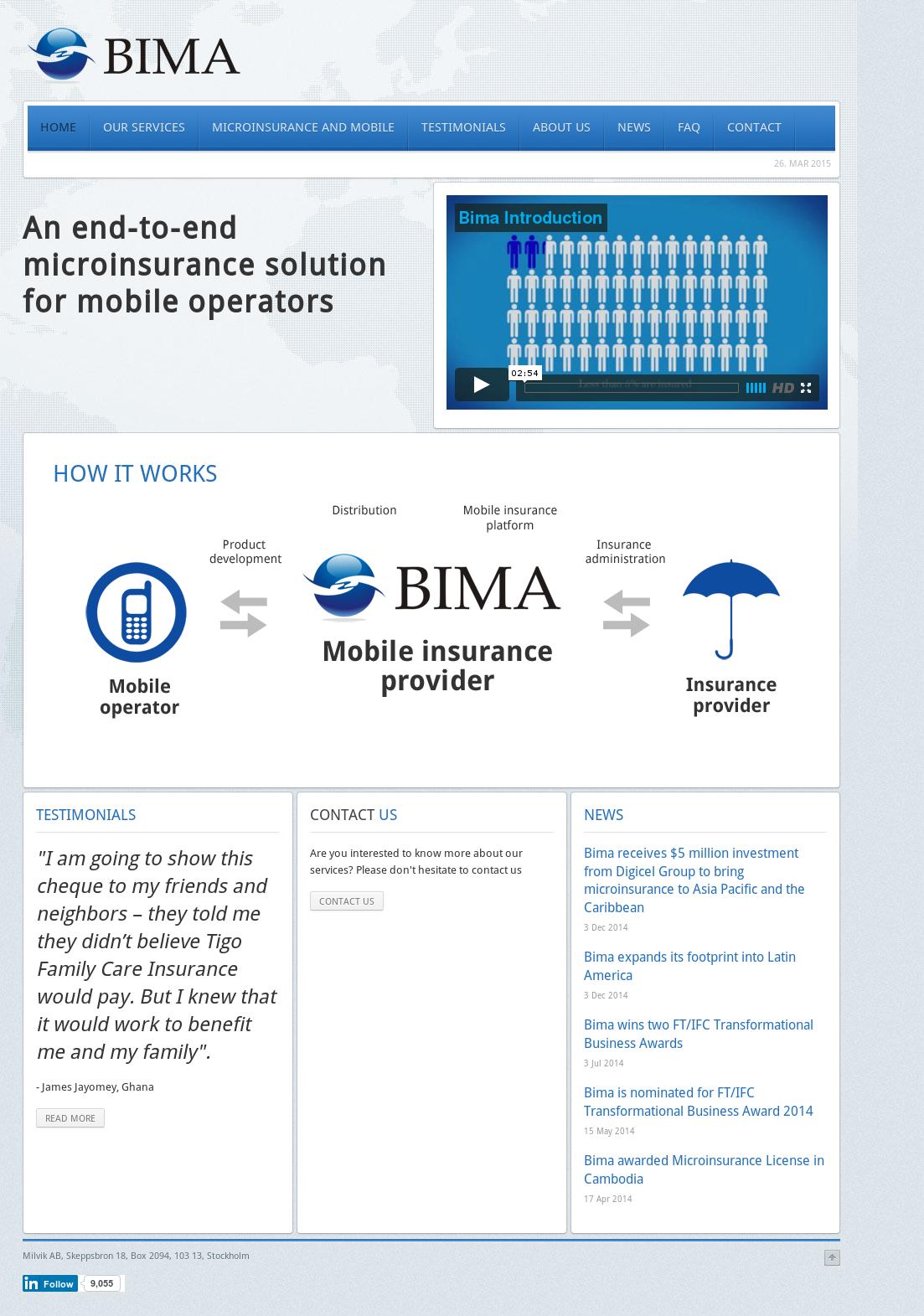 Bima Competitors, Revenue and Employees.