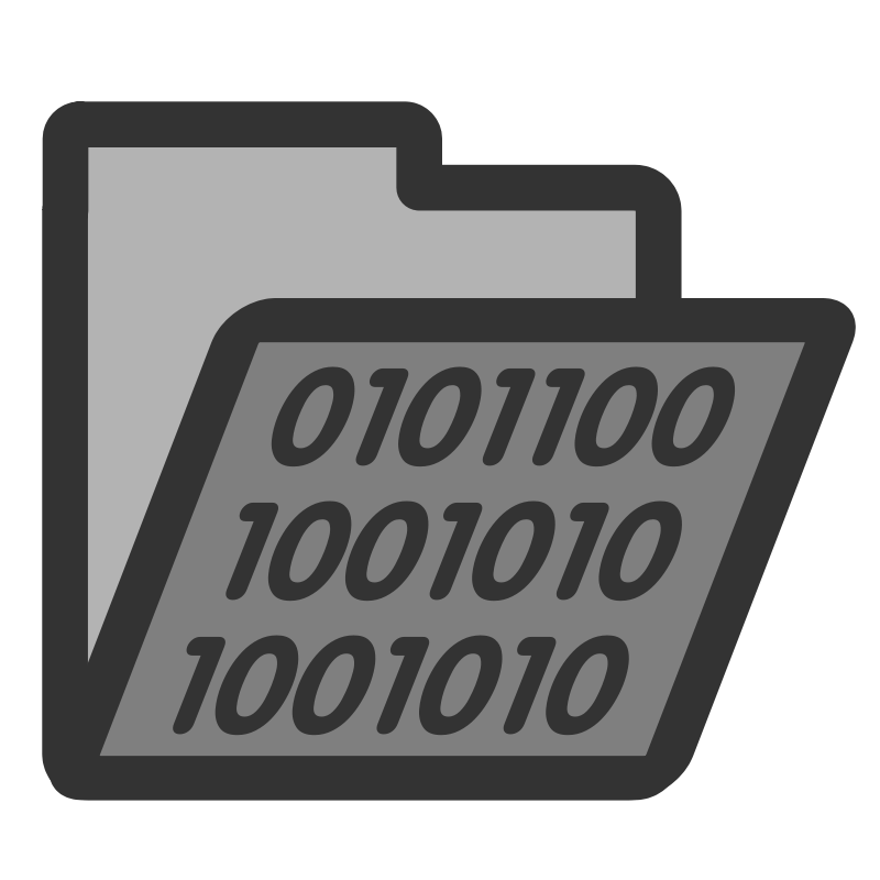 Free Clipart: Folder binary.