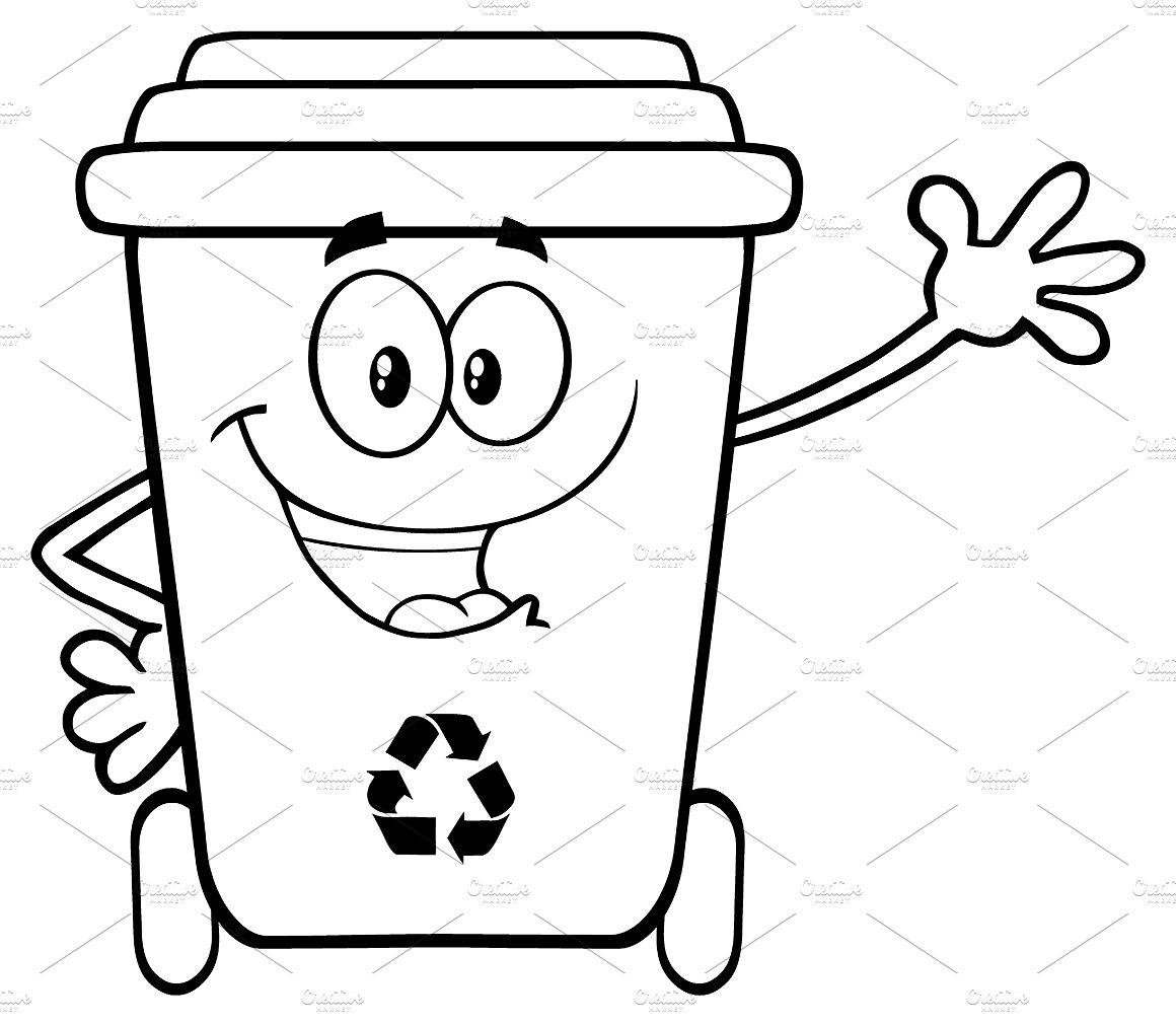 Bin clipart black and white 2 » Clipart Station.