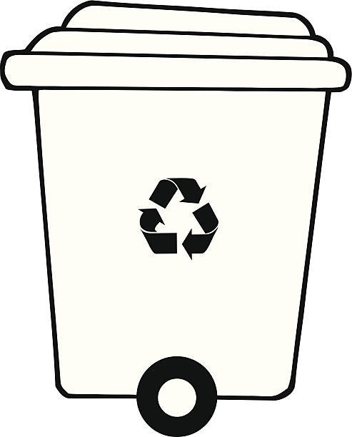 Recycle Bin Clipart Black And White.