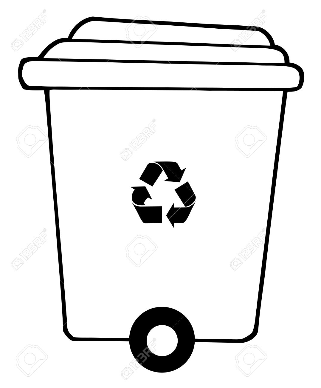 Bin clipart black and white 6 » Clipart Station.