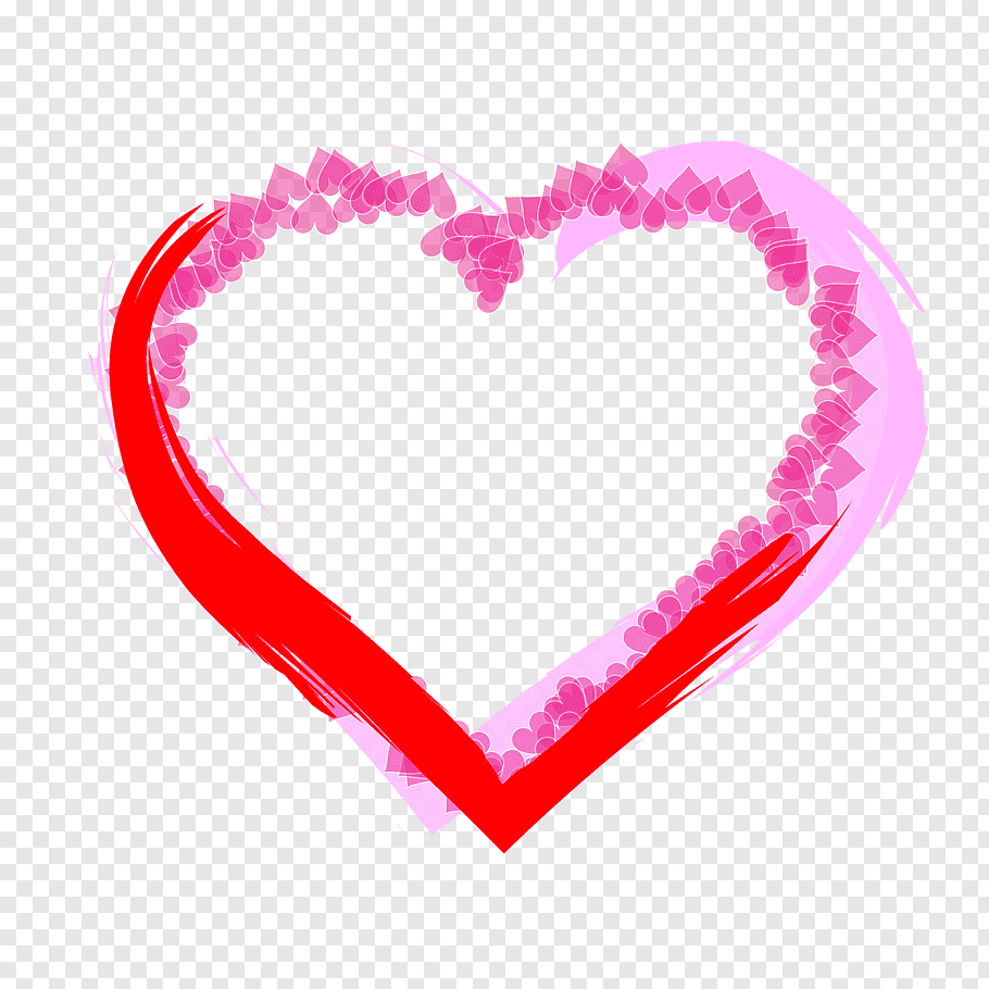Pink and red heart, Heart Sticker Plastic Zazzle Adhesive.