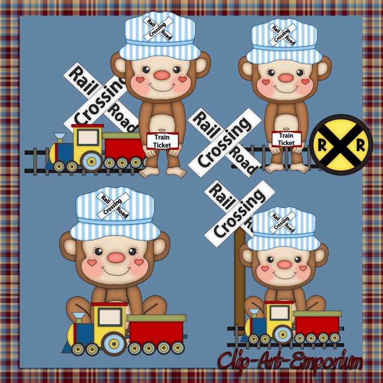 Cartoon Train Engine.