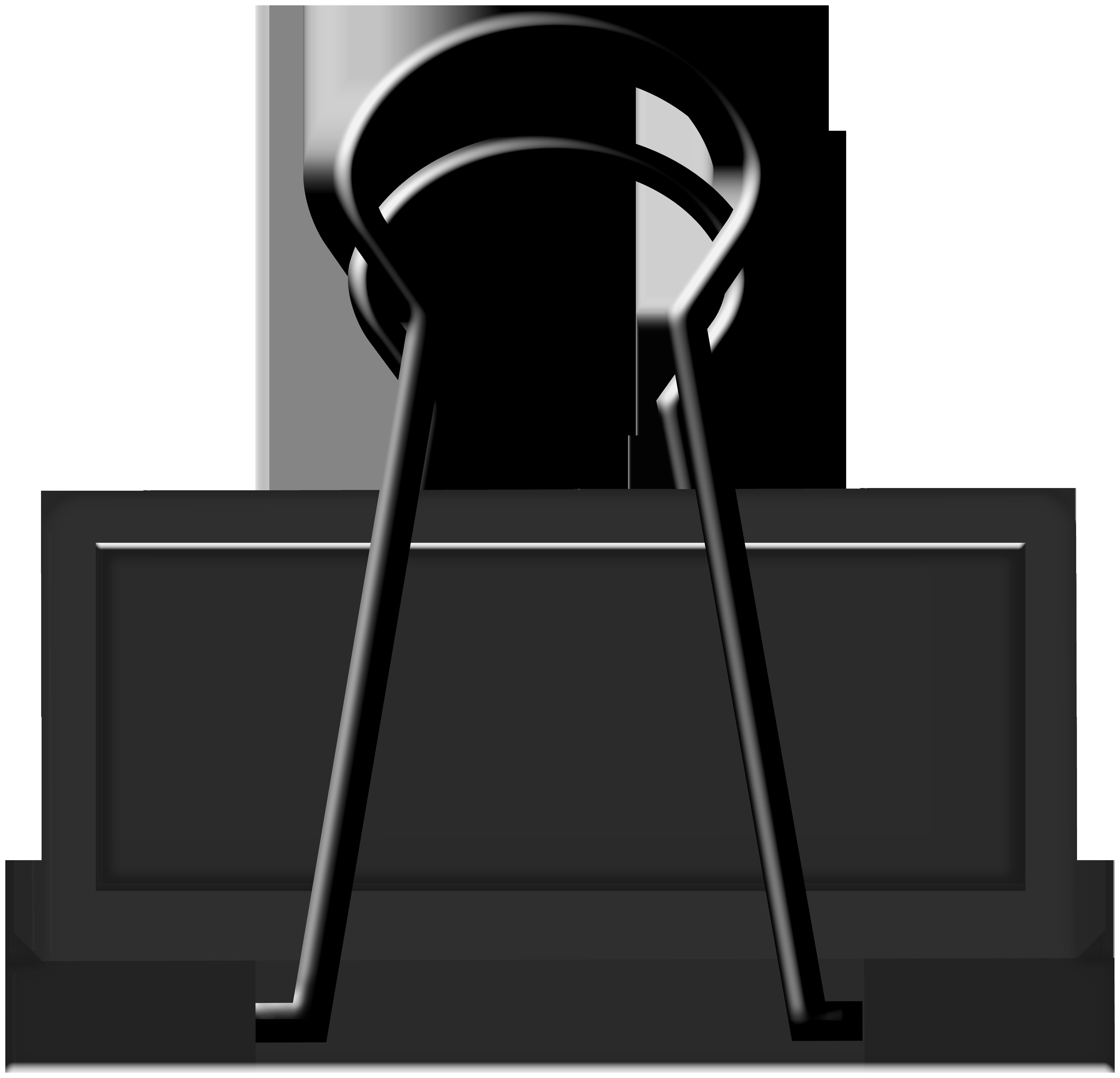 Black Binder Clip Art.
