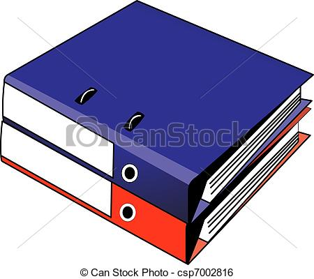 Organized Binder Clipart.