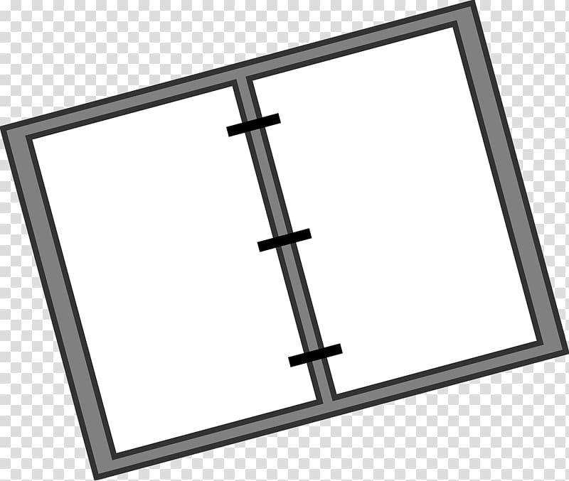 Ring binder Paper Notebook , Gray folder transparent.