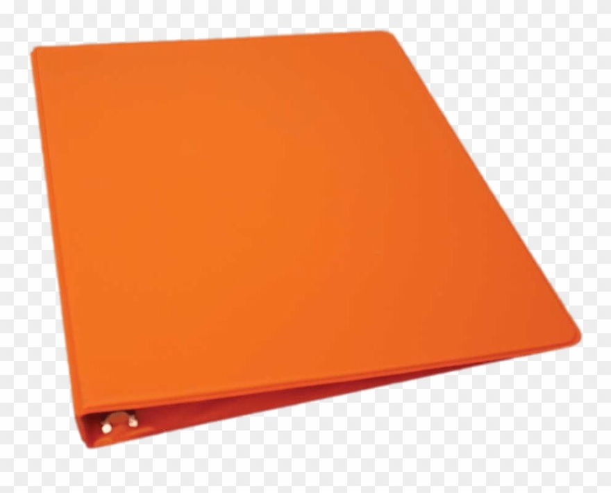 Download Orange Binder Flat Transparent Png.