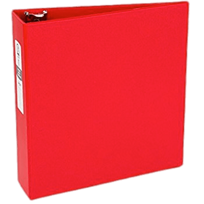 Red Binder Standing transparent PNG.