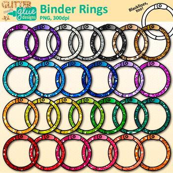 Binder Ring Clip Art: School Graphics {Glitter Meets Glue}.