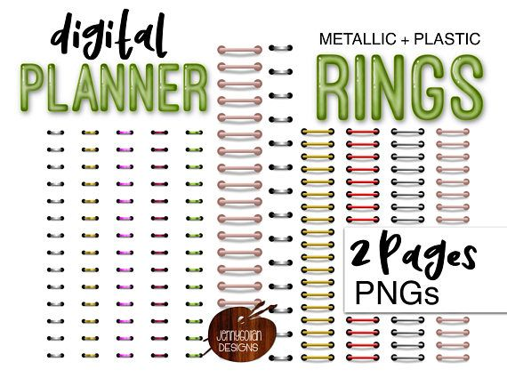 Digital Planner Ring Binder Bundle Personal and Limited Commercial.