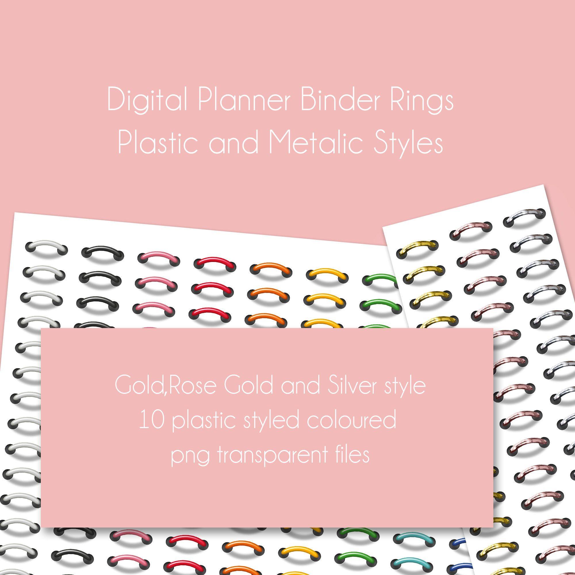 Digital Binder Rings, Digital Planner, Goodnotes, IOS, Ipad, png.