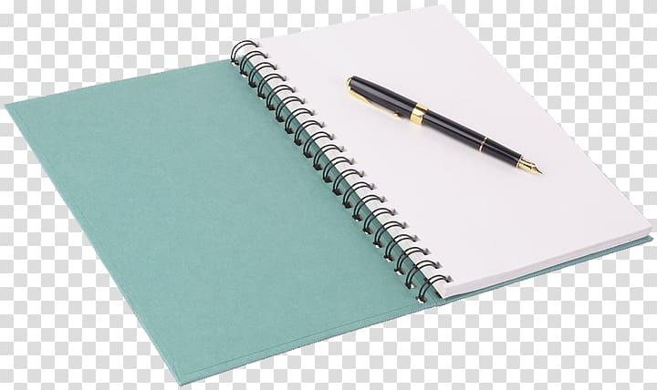 Notebook Fountain pen Paper Quill, notebook transparent.