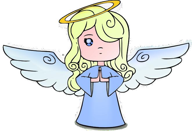 blonde angel.
