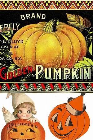Free Vintage Halloween Clip Art.