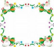 Free Christmas Clip Art Borders.