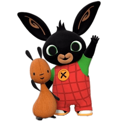 Bing Bunny and Flop Waving transparent PNG.