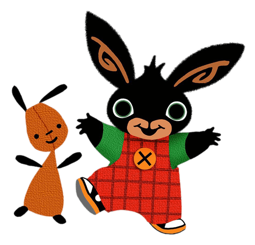 Bing Bunny and Flop Dancing transparent PNG.