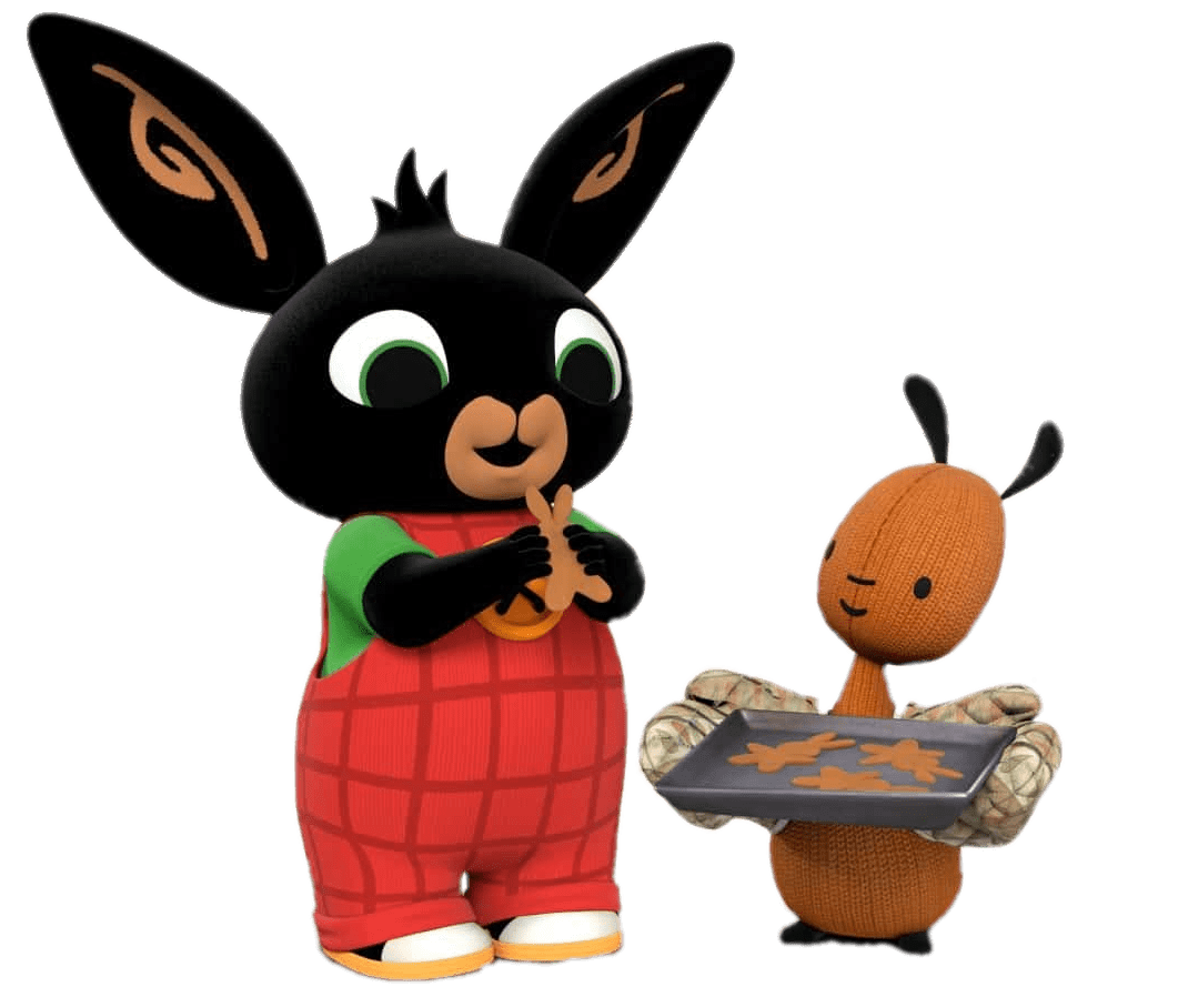 Bing Bunny and Flop Baking transparent PNG.