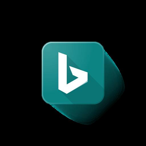 microsoft, Logo, Bing icon.
