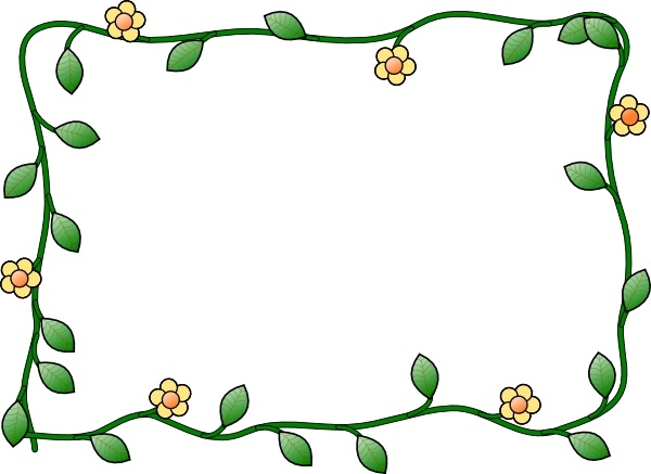 Flower Frame clip art Free vector in Open office drawing svg.